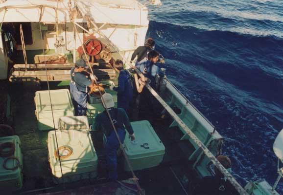 過酷な漁業インドネシア人対中国船